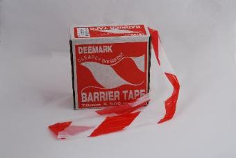 Le Mark BT75500RWHEAVY Barrier Tape - Red & White Stripes 75mm x 500m