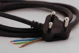 Stage Electrics FC6781 15A Cable + Moulded Plug to Bare Ends - 2.3m