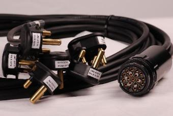 StageCable 6 x 15A Plugs to 19way Socket Cable 1.5mm