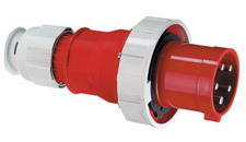 Ceenorm 2199 415V 3ph 125A Cable Plug IP67 - Red