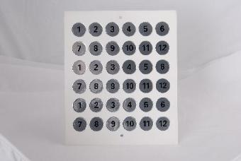 Silver Numbers Round Self Adhesive - 5 sets of 1 to 12