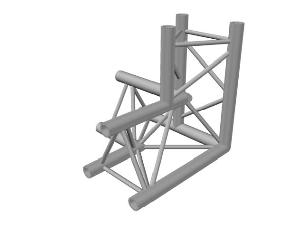 Prolyte X30D-C012 X30D Triangle Truss - Corner 3w Right Apex Down