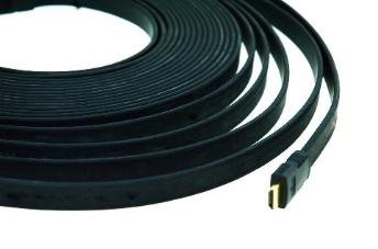 Kramer C-HM/HM/FLAT/ETH-3 HDMI Flat Cable with Ethernet + Plug to Plug-900mm