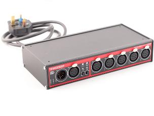 Swisson 10 12 11 XSR-5B DMX RDM Splitter Box 5way XLR 5pin-Desk Top