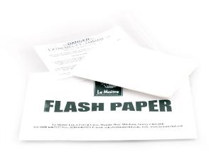 Le Maitre FP01 4 x sheets of Pyroflash Flash Paper