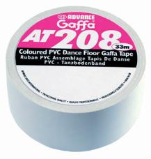 Advance 205530 AT208 Gaffa PVC Dance Floor Tape 50mm x 33m - White