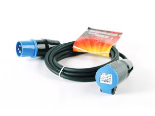 StageCable 16A 240V 1.5mm Cable+Blue 3pin 6h Plug & Skt-5m