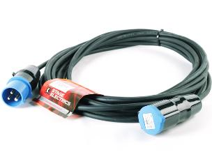 StageCable 16A 240V 1.5mm Cable+Blue 3pin 6h Plug & Skt-10m