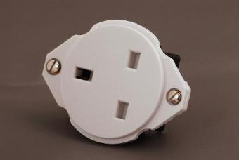 Contactum 1395 13A Round Panel Socket 1 Gang