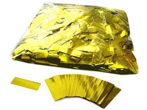 MagicFX CON10GL 1kg Bag Metallic Confetti Rectangles 55x17mm - Gold