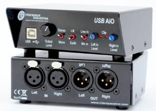 Interspace AiO In/Out USB Audio with Level Controls Mic/Line Inp