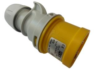 PCE 014-4 16A 110V 4pin Motor Cable Plug IP44 - Yellow