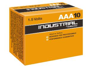 """Duracell ID2400 10 x Industrial """"AAA"""" Batteries - 1.5V"""
