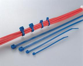 Hellermann T18R BLUE 100 x Cable Ties - 100mm x 2.5mm Blue