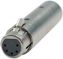 DAP FLA30 XLR 3pin Male to 5pin Female DMX Adapter