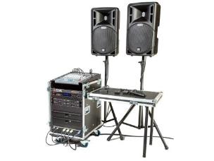 Stage Electrics ENCGPSS2H2L Gold Portable Sound System - 2x Hand Held & 2x Lavalier