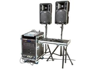 Stage Electrics ENCGPSS4H0L Gold Portable Sound System - 4x Hand Held