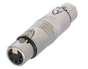 Neutrik NA5FF XLR 5pin Socket to XLR 5pin Socket Adaptor