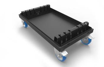 Admiral Staging WAVLC1008 Baseplate Dolly for 100x100cm x 8mm