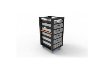 Admiral Staging WAM2S1C2S Storage Cart 110 (H) + Set C 4x Braked Castors