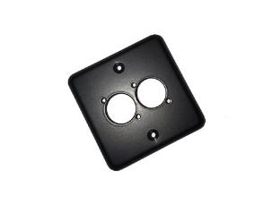 1 Gang MK Faceplate (Lid) With 2x D Size (XLR) Cutouts