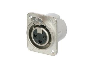 Neutrik NC3FD-LX-M3 XLR 3pin Panel Socket + 3mm Threaded Mount Holes