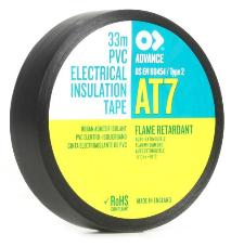 Advance 102914 AT7 PVC Tape 19mm x 33m - Black