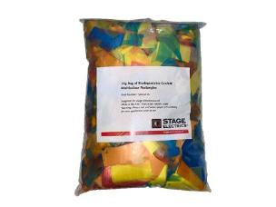 1Kg Bag of Biodegradable Confetti Rectangles - Multicolour