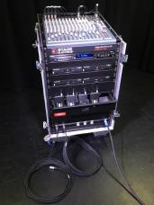 Stage Electrics Ex Demo 4-Way Radio Mic Lav System with Mixer & CD Player in Flightcase