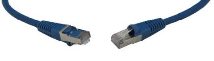 Canford 46-9626 Cat6A Screened Patchcord RJ45-RJ45 0.5m Blue