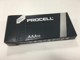 """Duracell ID2400 10 x Procell """"AAA"""" Batteries - 1.5V"""