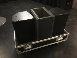 EM Acoustics EMS-81X Ex Demo 2x Fullrange Speakers 8ohm + Flightcase