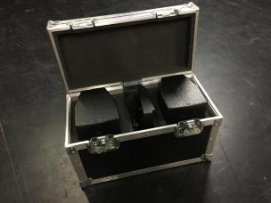 EM Acoustics EMS-51 Ex Demo 2x Fullrange Speakers 8ohm + Flightcase