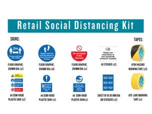 Advance 266666 Retail Social Distancing Kit